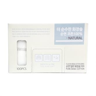 화장솜/화장/더순수한 화장솜(100P)/클렌징/잡동산이