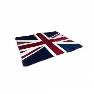 유니언잭 중형 영국 국기 밍크 극세사 무릎 담요 이불