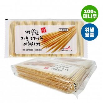 요지/가는대나무이쑤시개 봉지리필(2000개)/이쑤시개