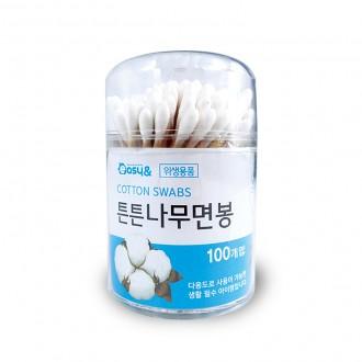 면봉/튼튼나무면봉(원통 100p)/나무면봉/위생면봉