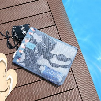 희망 패턴 코팅메쉬 워터패스백 - 중 / 수영목욕가방