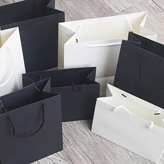 무지 화이트 블랙 쇼핑백 종이가방 민자(소)