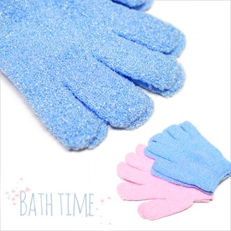 DF 손가락샤워장갑2P(색상랜덤) 목욕장갑 때장갑