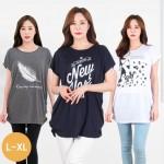[리원패션] 프린트 셔링 티셔츠 - T640