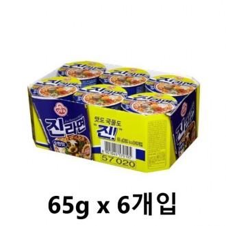 오뚜기 진라면 순한맛 소컵 65g x 6개입