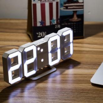 3D 무소음 LED 시계 3M 케이블 인테리어 벽시계