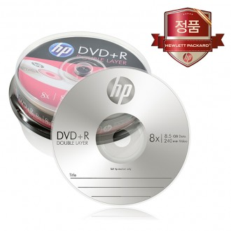 HP 듀얼레이어 DVD-R 8.5GB 10장케이크/공DVD