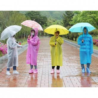 [도매큐] 레인코트 우비 비옷 휴대용 재사용 우의