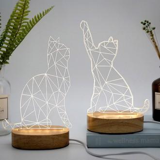 3D 고양이 무드등 수유등 인테리어소품 취침등 수면등
