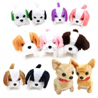 움직이는 강아지 인형 귀여운 작동 장난감 휴게소인형