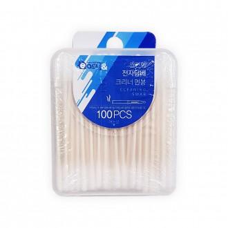 면봉/전자담배/전자담배크리너면봉(100p)/궐련형/잡동