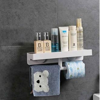 욕실선반 화장실 흡착식 세면대 일자 설치 수건걸이