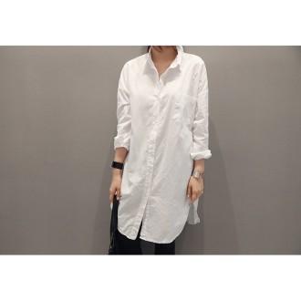 F6180/원피스셔츠/여러옷과 코디하는 화이트롱셔츠