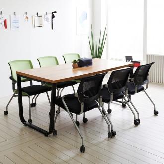 스틸뷰 1800 철제 테이블 식탁