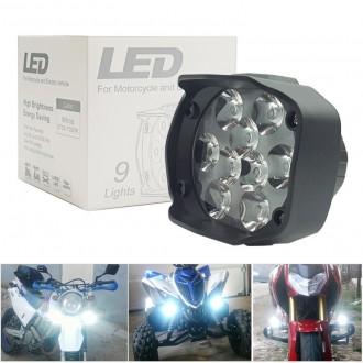 L5 9W LED 써치라이트 오토바이 안개등 밝기 루멘