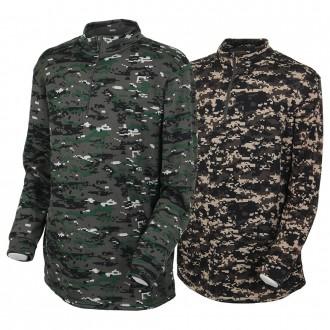 [이지빌패션] SB기모밀리터리집업티 남성 기모티셔츠