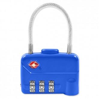 여행필수 여행가방TSA 3중번호 와이어 자물쇠 CLUTCH
