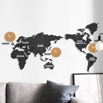 세계지도 무소음 벽시계 인테리어 세계시계