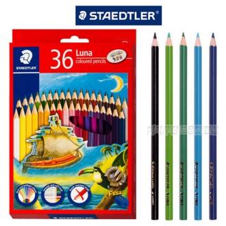 루나 색연필 36색 136 C36 TH 연필깎이 포함 색칠놀이