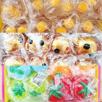 n16829/0.5 주물럭 계란 황금돼지 과일 묵사발/젤리 찐득이 촉감놀이 엽기제품 장난감 공