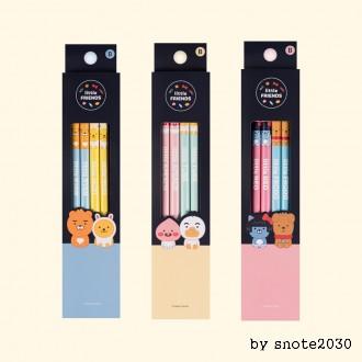 카카오 프렌즈 리틀 프렌즈 4본 연필 세트