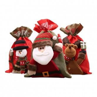 크리스마스 선물 주머니 3종 산타 루돌프 크리스마스