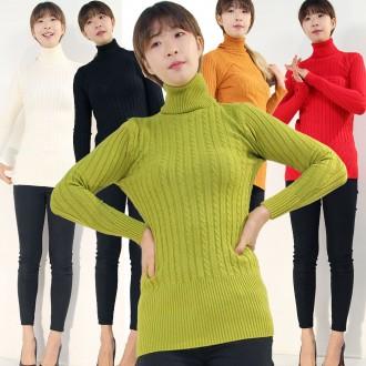 따뜻한겨울 기모폴라티셔츠/여성티셔츠/터들넥/목폴라