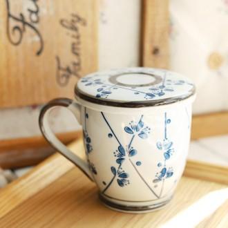 거름망 뚜껑 머그 머그컵/머그잔/물컵/컵/커피잔