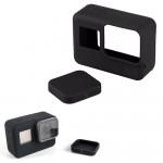 고프로 히어로7 실리콘 케이스 렌즈캡 보호 커버 블랙
