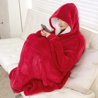 꿀템팩토리 집돌순이 후드 집순이 후드 담요 수면잠옷