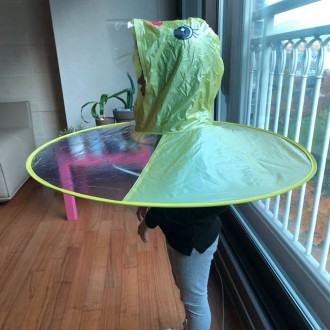UFO 오리 우의 비옷 우비