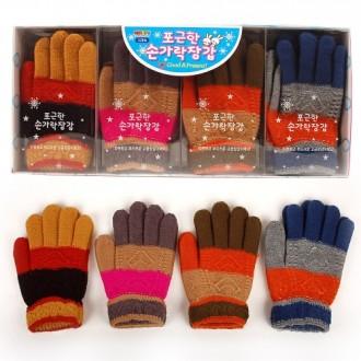 3000포근한손가락장갑 털장갑 방한용품 아동장갑