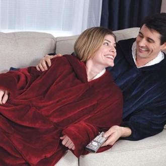 집순이 집돌이 집돌순 오버핏 양털 후드 담요 잠옷