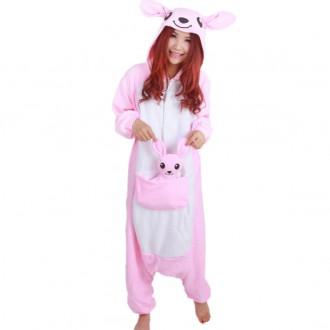 [히트패션]PJ 098 귀여운 핑크캥거루 동물잠옷커플S-X