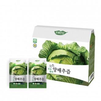 [초록한입] 국내산 유기농 생생 브로콜리양배추즙30포