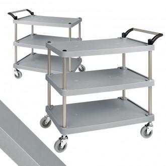 플라스틱써빙카트3단 중 서빙카트 운반 식당 운반카