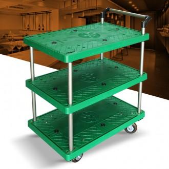 P대차 3단 대 플라스틱 서빙카트 운반대 다용도 선반