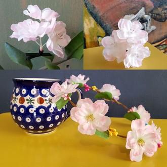 벚꽃핀 벚꽃화관 새싹머리핀 안테나핀