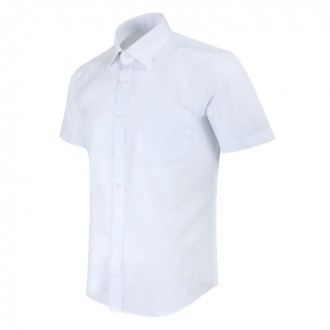 반팔 레귤러 솔리드 화이트 셔츠 MN1001