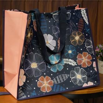 장바구니/에코백 타포린백 시장바구니 시장가방 에코가방 가방 빅플라워 타포린 폴딩백 마켓백 (여우창고)