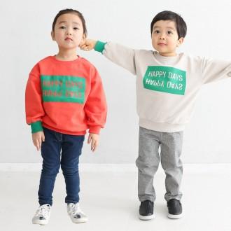 [꼬마창고]해피데이맨투맨/아동복/아동티셔츠
