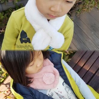 아동 퍼머플러/ 방울퍼목도리/ 밍크퍼목도리