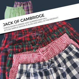 [캠브리지] 남녀공용 체크 배기 팬츠 잠옷 바지