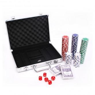 국제규격 200p 카지노칩 포커칩 세트 트럼프 카드게임