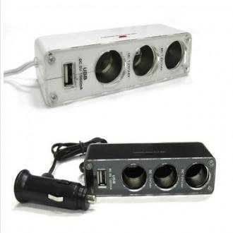 차량용 USB 멀티소켓 3구소켓 1000mA 충전기