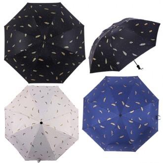 3단깃털 암막우산 우양산 자외선차단 미니우산 휴대용