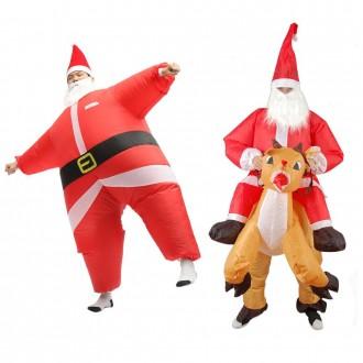 크리스마스 에어슈트 바람옷 산타복