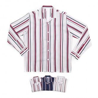 더블 컬러 스트라이프 남자 셔츠