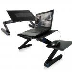 [도매큐] 노트북거치대/노트북테이블 노트북 받침대 각도조절독서대 침대노트북거치대 눕서대