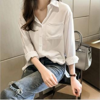여자 무지 남방 흰색 화이트 정장 셔츠 블라우스 7103